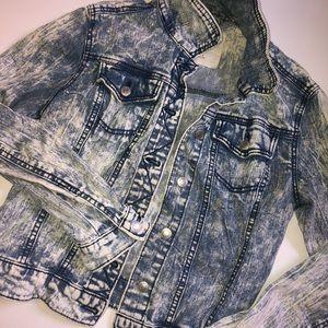 Acid-Washed Jean Jacket Medium